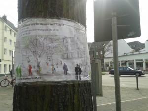 150407_Netzwerktreffen_4Banner-Huelsmeyerplatz_Rath_Tat_KiQ_Linneweber