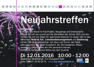 160112_Einladg-Neujahrstreffen2016 KiQ Rath Linneweber Quartier entwicklung