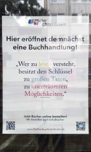 160728_Rather Buchzentrum Leerstand Ladenlokal Duesseldorf Linneweber Zwischennutzung