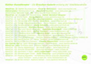 160908_2Teilnehmerliste Rather Kunstfenster Galerie KiQ Rath Tat Linneweber Quartier nebenan