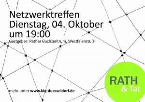 161004 Einladung Rath Tat Netzwerk treffen Westfalen KiQ Linneweber nebenan Rather Buchzentrum Quartier Entwicklung (1)